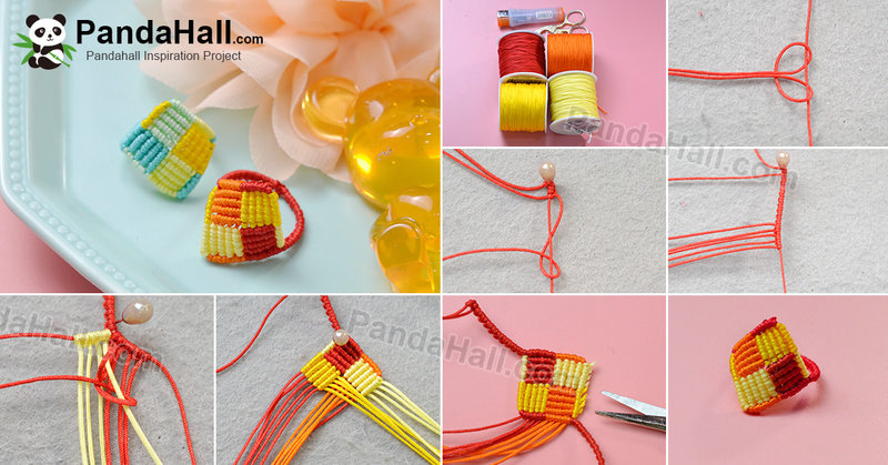 1200-PandaHall Tutorial on Rhombic Four-color Braided Rings
