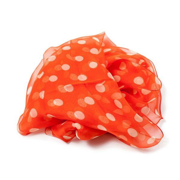 Foulard à pois orange