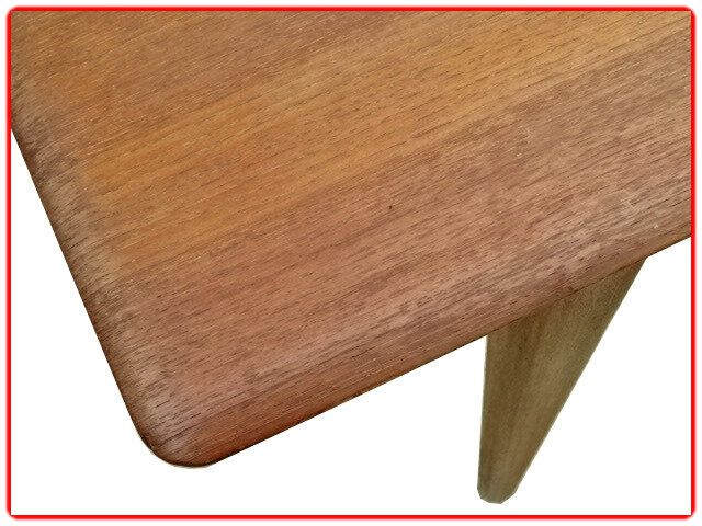 table à manger vintage scandinave 1960 teck