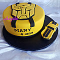 Gâteau transformers bumblebee - transformers cake