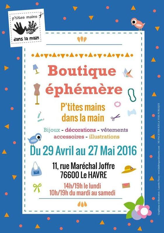 Flyer Boutique éphémère mai 16