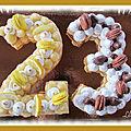 Number cake citron / vanille praliné