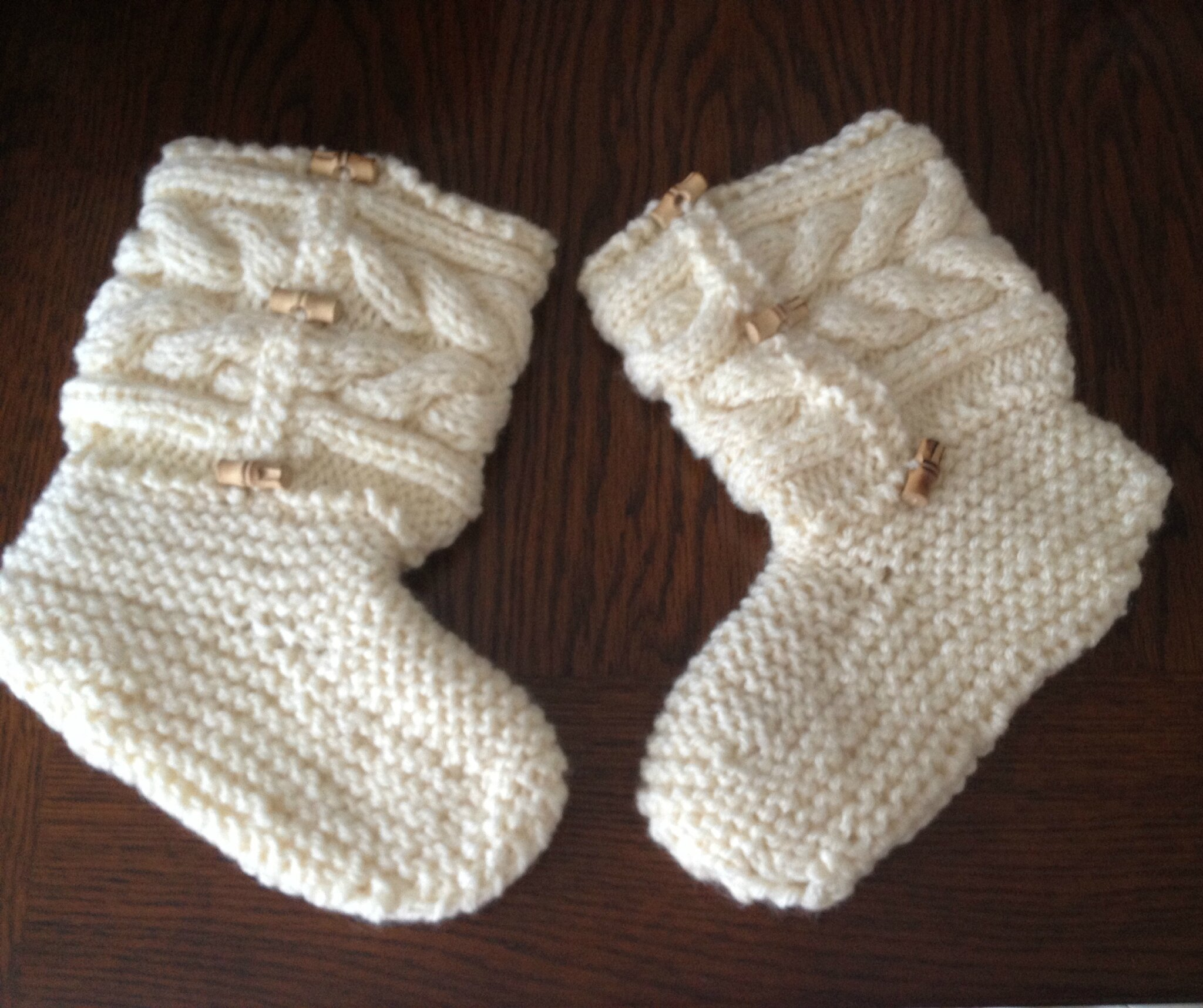 Mes jolis chaussons au tricot!!!!!!!