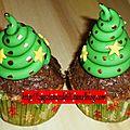 Noël 2012 - n°14 - cupcakes sapins ultra simples (avec explications)