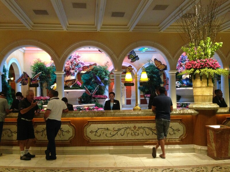 Front desk du Bellagio