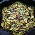 Frittata courgettes et jambon