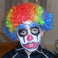 Maquillage pour halloween - clown