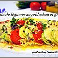 Gratin de légumes du soleil aux fromages reblochon - gruyère