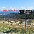 Samedi 04 avril: 82kms- le chaffaut –espinouse –mezel -digne –col de l'orme –col du pas de bonnet