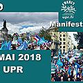 Environ 3000 personnes ont participé à paris à la première grande manifestation de l'upr le 1er mai 2018.