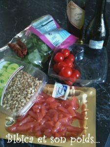 Salade Bibica au saumon fumé ingrédients