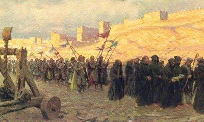 procession devant Jérusalem