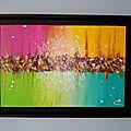 Tableau abstrait peinture acrylique