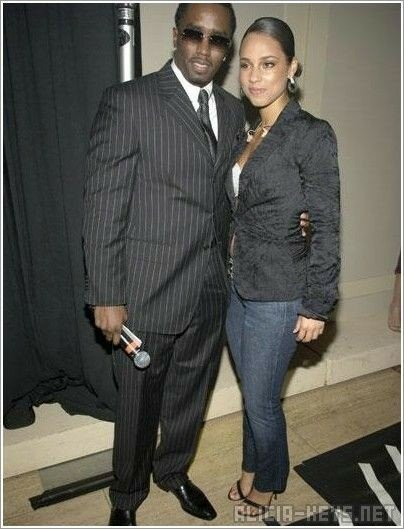 L'atypique Sean Combs et la belle Alicia Keys.