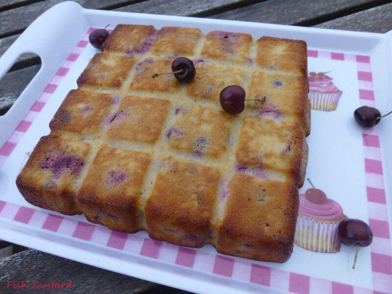 Gâteau aux cerises, amandes et ricotta (8)