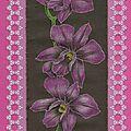 orchidée, d'après un modèle de parchment craft mai 2011 ( sept 2011)