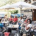 2018 08 28 Torla - terrasse d'un café - La bière 1650