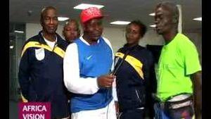 Athlètes paralympiques congolais et leurs entraîneurs