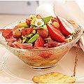 Petite entrée fraîche kiwi avocat tomate fraise et jambon de parme...les commentaires fonctionnent à présent...