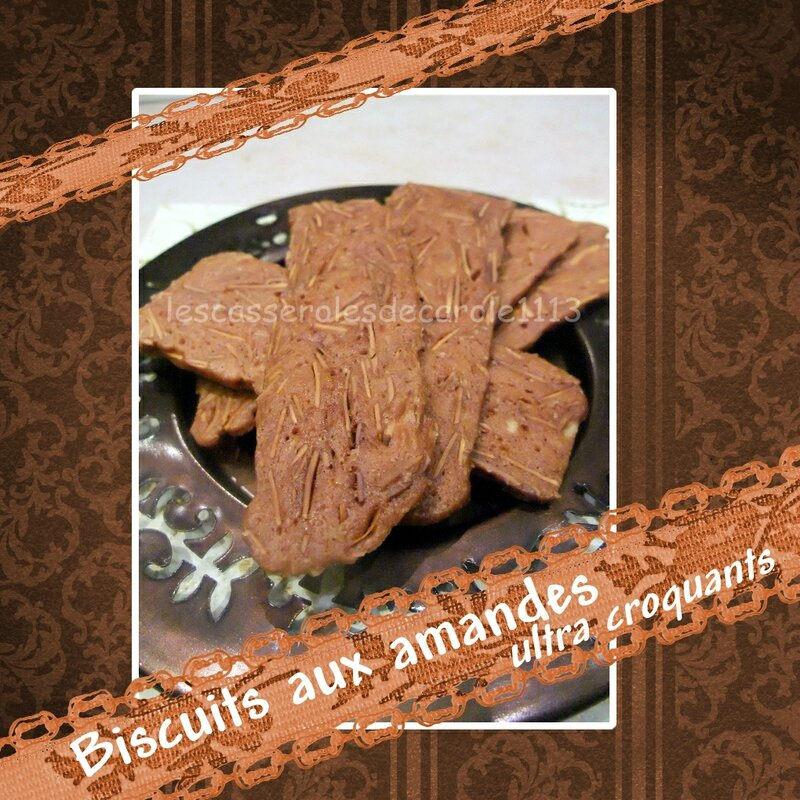 biscuits croquants aux amandes (SCRAP)