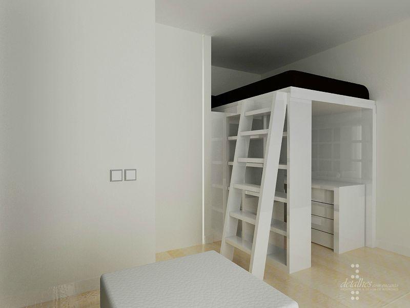 chambre ado espace mezzanine projet en 3d stinside architecture d 39 int rieur. Black Bedroom Furniture Sets. Home Design Ideas