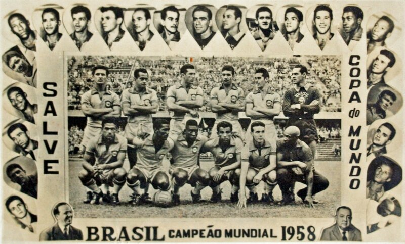 1958 Carte photo Brésil Champion