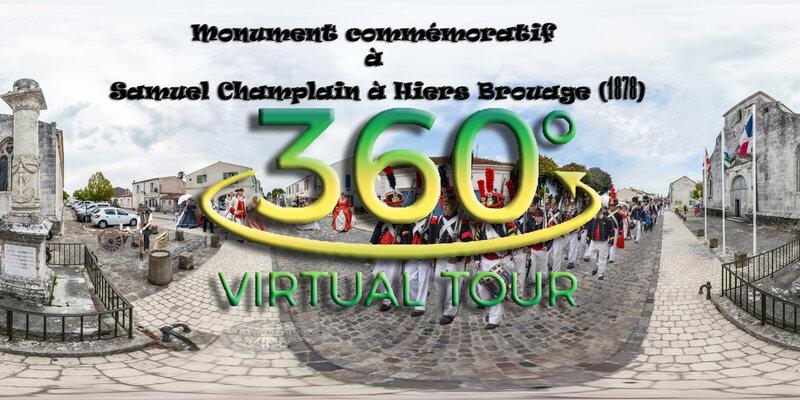 Monument commémoratif à Samuel Champlain à Hiers Brouage 1878 - virtual tour