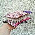Protège-livres de poche tissu fait-main disponible /