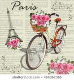 paris-vintage-posternewspaper-background-260nw-466362365