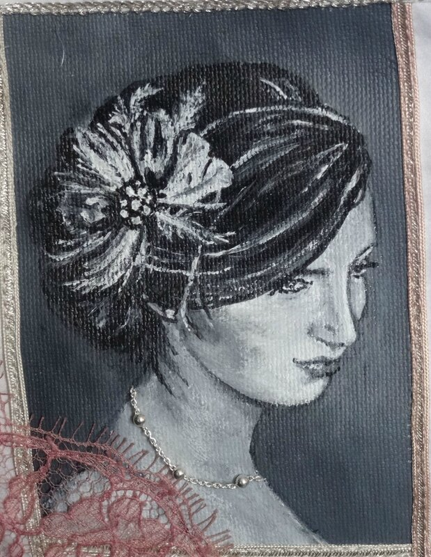 peinture pochette mariée