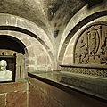 Sélestat - église sainte-foy - crypte et chapiteaux