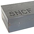 Vintage ... ancienne caisse métallique sncf * grand modèle