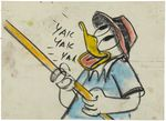 Donald Duck Out On a Limb Storyboard Drawing Animation Art 01