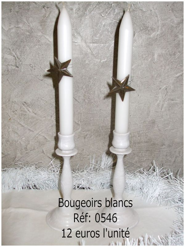 bougeoirs blanc
