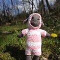 Doudou chaussette : mouton