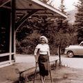 Août 1953 canada marilyn dans un chalet