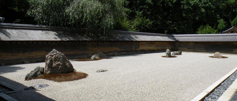 Le temple zen Ryoan-ji et son célèbre jardin sec ... - Le Japon d ...