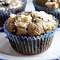 Muffins à l'huile de coco et sucre de coco avec topping crumble