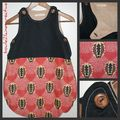 collage gigoteuse ethnic rouge et noire