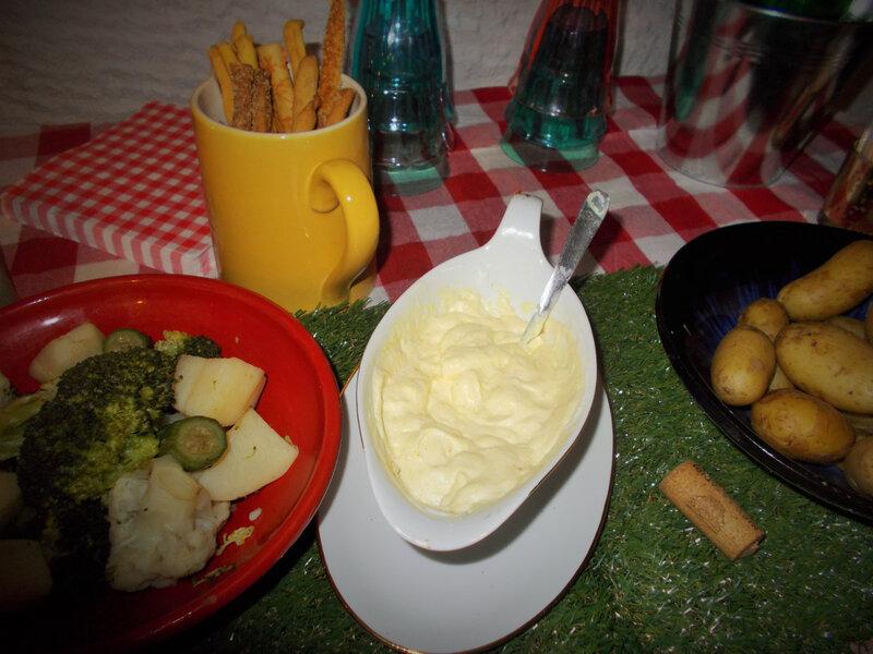 petits legumes sauce mayo yahourt curcuma piment espelette