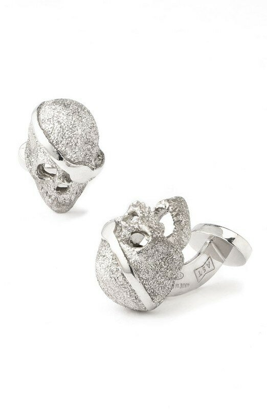 Robert Talbott : Pirate Skull Cuff Links