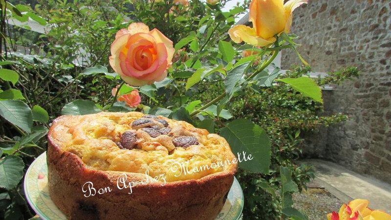 gâteau framboises jaunes du jardin et oeufs chocolat 010-
