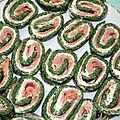Roulé boursin épinards saumon