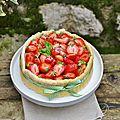 Charlotte aux fraises, citron et basilic : le