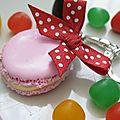 Porte clés macarons, à déguster sans modération!!!