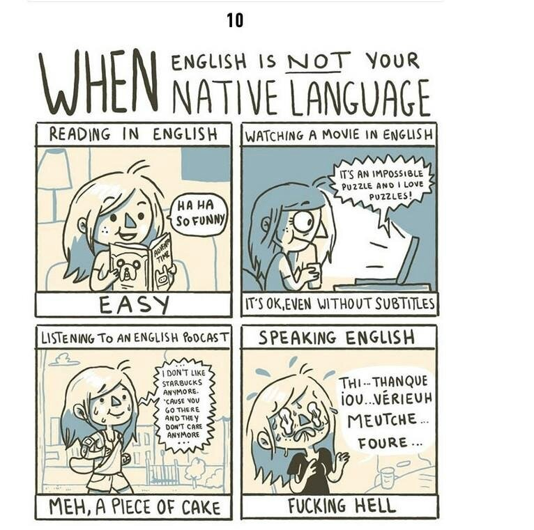 When english is NOT your native language