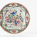 A 'famille-rose' plate, Qianlong period (1736-1795)