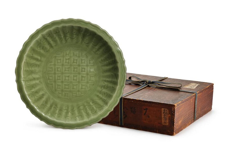 A Longquan celadon charger, Ming dynasty
