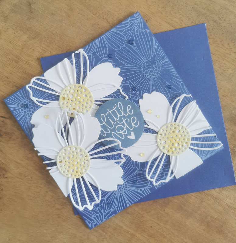 The flower challenge - Daisies and a little note...
