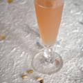 Nectar de rhubarbe à la cardamome et à l'eau de rose, sans blé, sans lait